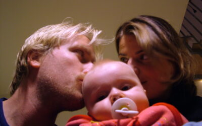 Still partying and following our dreams, but with a baby on my arm.