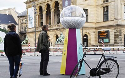 Why we sold candy filled with bankers' hair on a busy Copenhagen square