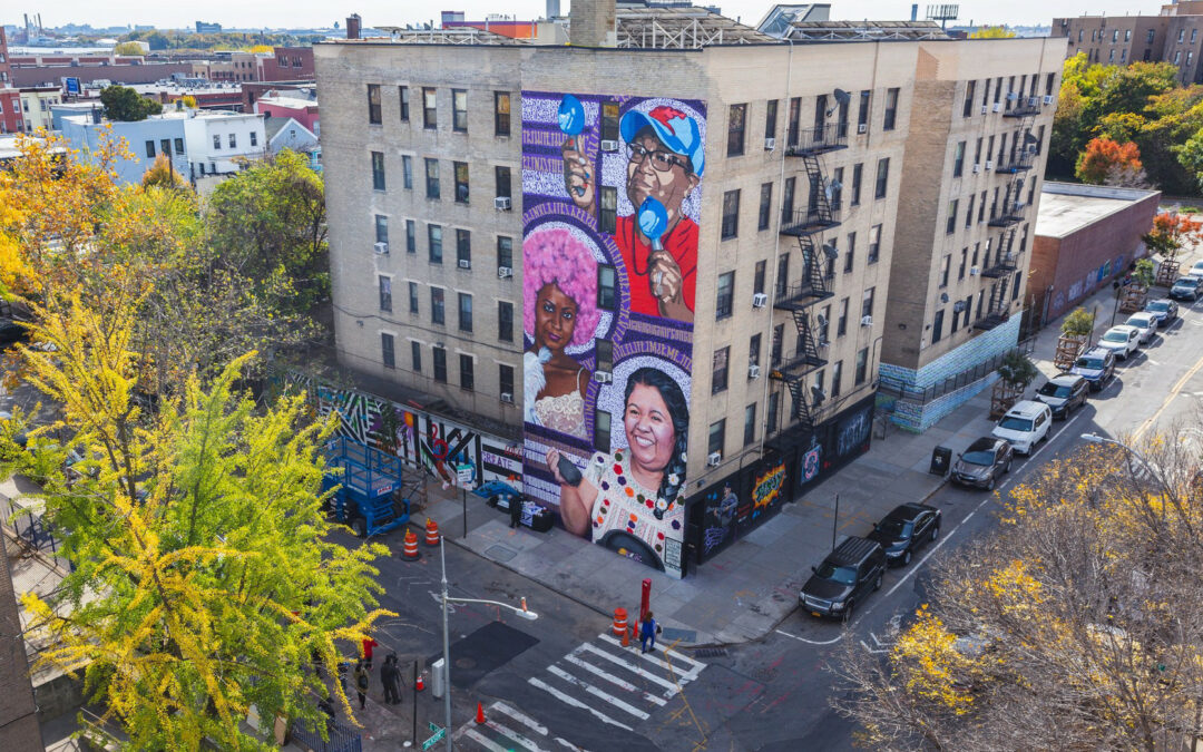 La artista callejera de Nueva York, Aída Miró, cree que la angustia puede ser un gran catalizador para la transformación y el poder